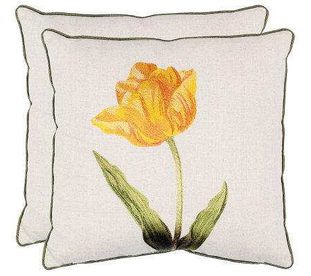 "Set of 2 18"" x 18"" Meadow Pillows in Gold FromSafavieh"