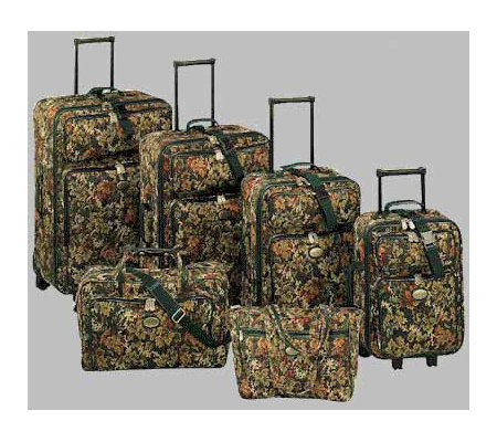 Travel Gear 6-Piece Tapestry Luggage Set — QVC.com
