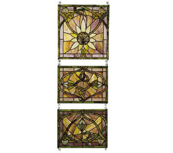 Tiffany Style Three Piece Window Panel Set - H108605