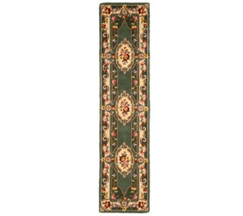 "Royal Palace French Savonnerie 2'3"" x 9'6"" Wool Rug - H205105"