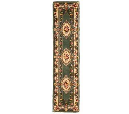 "Royal Palace French Savonnerie 2'3"" x 9'6"" Wool Rug"