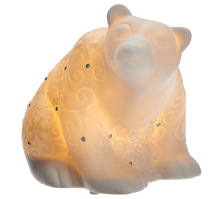 Kringle Express Illuminated Porcelain Snow Animal