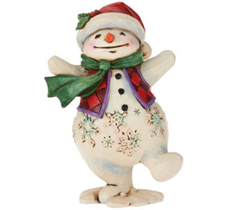 Jim Shore Heartwood Creek Pint Size Snowman Figurine - H209205