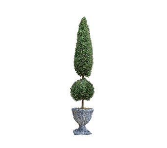 Design Toscano Garden Double Topiary Faux Tree- Small - H282705