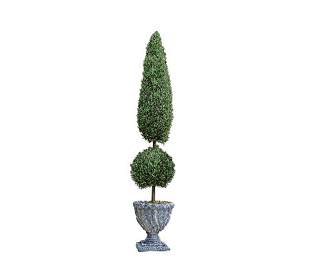 Design Toscano Garden Double Topiary Faux Tree- Small