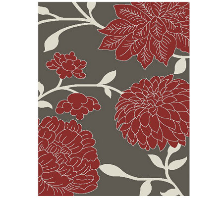 "Safavieh Floral 5'3"" x 7'7"" Indoor/Outdoor Rug"