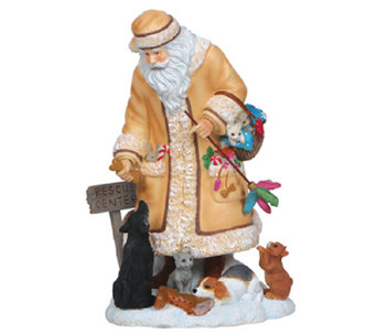 Limited Edition Santa with Cats and Dogs Figurine by Pipka - H286805