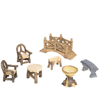 Plow & Hearth Woodland Garden Furniture Set - H287005