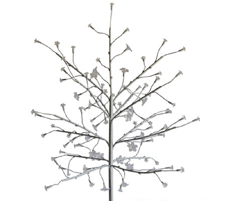 Exhart Indoor/Outdoor Silver LED Bush w/ Color-Changing Lights