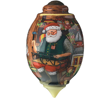 Santa's Toy Shop Ornament by Ne'Qwa