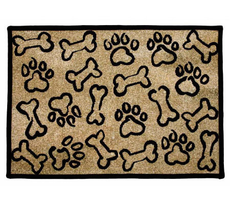 "Puppy Paws 19"" x 27"" Tapestry Rug"