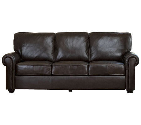 Abbyson Living Bellagio Leather Sofa — QVC.com