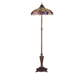 Tiffany Style Recurve Simple Wisteria Floor Lamp - H112306