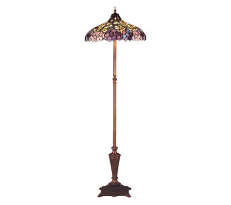 Tiffany Style Recurve Simple Wisteria Floor Lamp