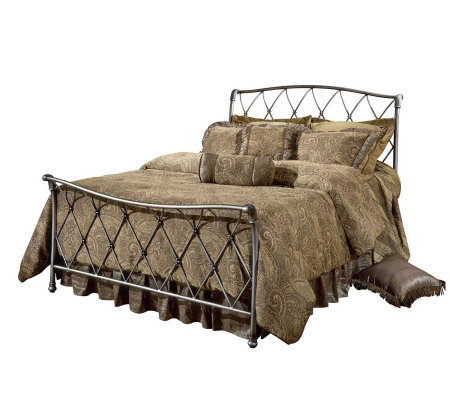 Hillsdale Furniture Silverton Qn Bed-Brushed Silvertone Finish