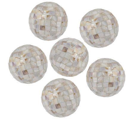 home interior accents set of six decorative orbs - Decorative Orbs