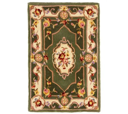 "Royal Palace French Savonnerie 3' x 4'6"" Wool Rug"