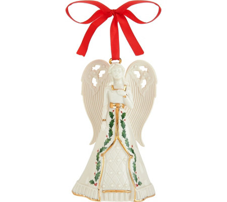 Lenox Porcelain Angel Bell with 24kt Gold Accents