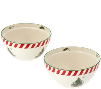 "Spode Christmas Tree 8"" & 9"" Mixing Bowl Set - H208806"