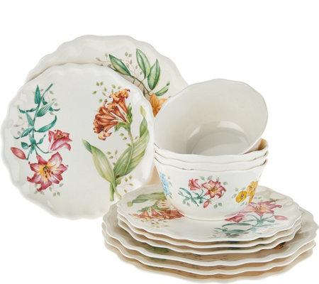 lenox butterfly meadow melamine 12piece dinnerware set - Lenox Dinnerware