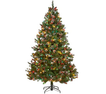 ED On Air 7.5' Mixed Ming Tip Baby's Breath Tree by Ellen DeGeneres - H209506
