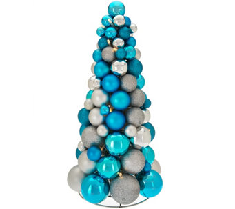 "16"" Illuminated Ornament Tabletop Tree by Valerie - H210806"