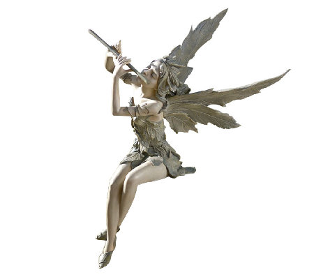 Design Toscano Fairy of the West Wind Musical Garden Sculptur