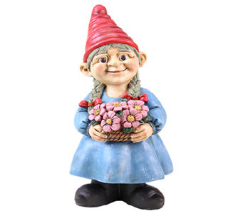 "Exhart 13"" Girl Gnome - H285006"