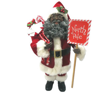 "15-1/2"" African American North Pole Santa by Santa's Workshop - H289006"