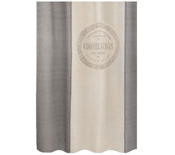"Metro Farmhouse Coquelicots 72"" x 72"" ShowerCurtain - H290806"