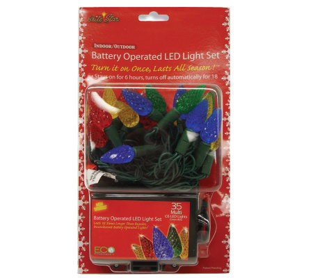 Battery Operated 35-Count C6 LED Light Set - Multicolor