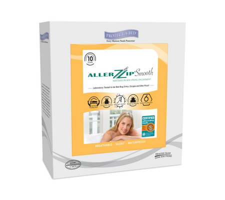 "Protect-A-Bed AllerZip Smooth Twin 9"" Mattres sEncasement"