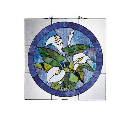 Tiffany Styled Lily Window Panel