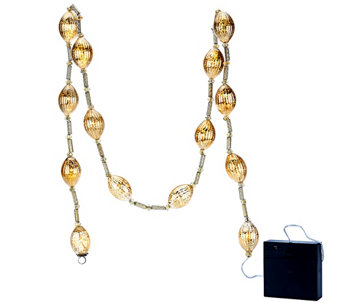 Kringle Express 6' Illuminated Mercury Glass Light Strand with Timer - H203407