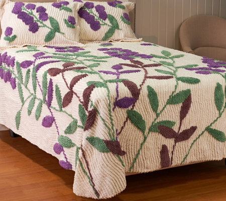 Westford Floral 100% Cotton Chenille Bedspread