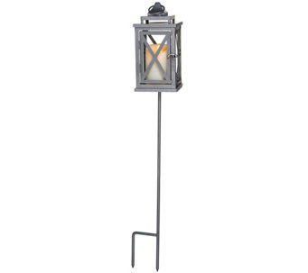 "Luminara 10"" Lexington Lantern with Candle, Remote and Stake - H209407"