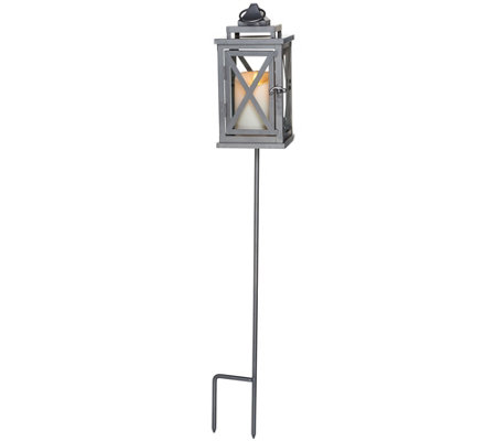 "Luminara 10"" Lexington Lantern with Candle, Remote and Stake"