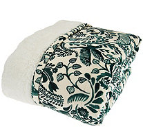 ED On Air Suedemink Printed Animal Design Throw by Ellen DeGeneres - H209807