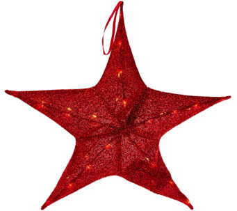 """As Is"" Kringle Express 25.6"" Lit Outdoor/ Indoor Sparkle Star - H211107"