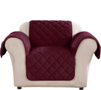 Sure Fit Chair Plush Comfort Waterproof Furniture Cover - H212307  sc 1 st  QVC.com : recliner loveseat cover - islam-shia.org