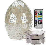 """As Is"" Mosaic Pearl Egg with Multi-Function Light by Valerie - H212907"