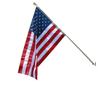 Annin Estate 6' Spinning Flag Pole w/3' x 5' Nyl-Glo US Flag - H282207