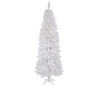 9' Prelit Sparkle White Pencil Tree by Vickerman - H286707