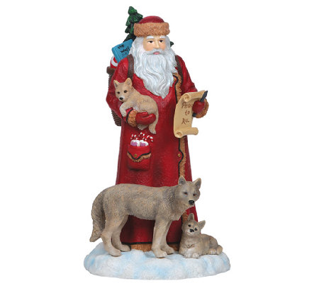 Limited Edition Santa with Wolves Figurine by Pipka