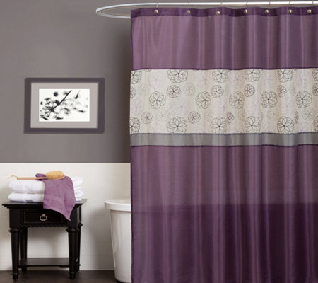 Covina Purple Shower Curtain by Lush Decor