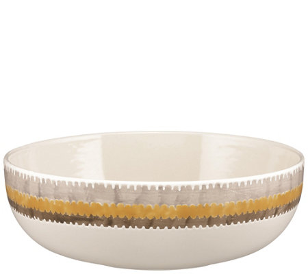 "Rachael Ray Ikat Stoneware 10"" Round Serving Bowl"