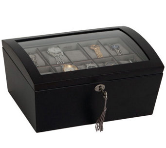 "Mele & Co. ""Royce"" Locking Glass Top Watch Box - H366107"