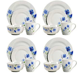 Tabletops Gallery 16-Piece Wildflower Dinnerware Set - H367807