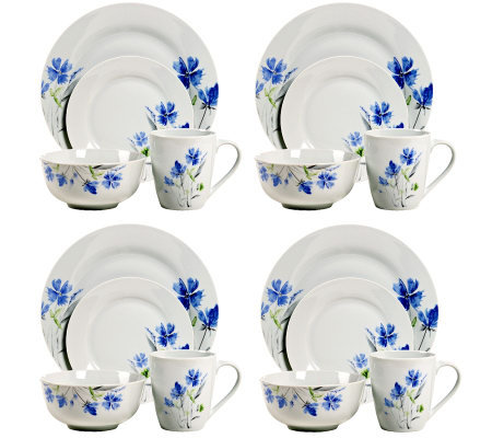 Tabletops Gallery 16-Piece Wildflower Dinnerware Set