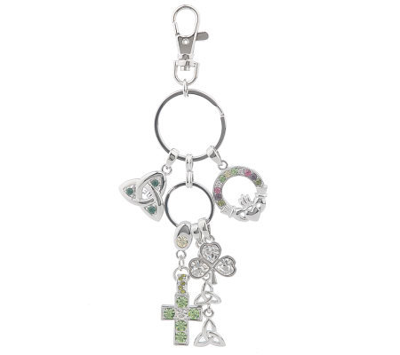 Killarney Crystal Charms of Ireland Key Chain